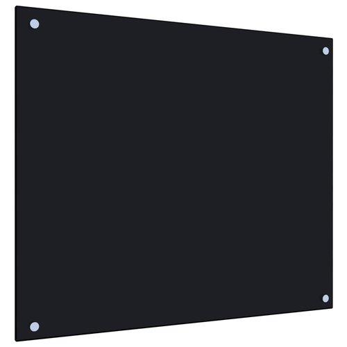 vidaXL Spatscherm keuken 70x60 cm gehard glas zwart