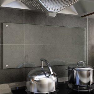 vidaXL Spatscherm keuken 90x40 cm gehard glas transparant