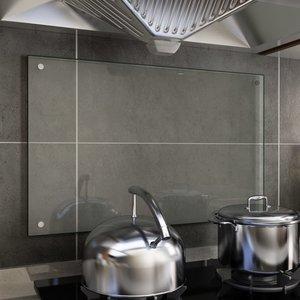 vidaXL Spatscherm keuken 80x50 cm gehard glas transparant