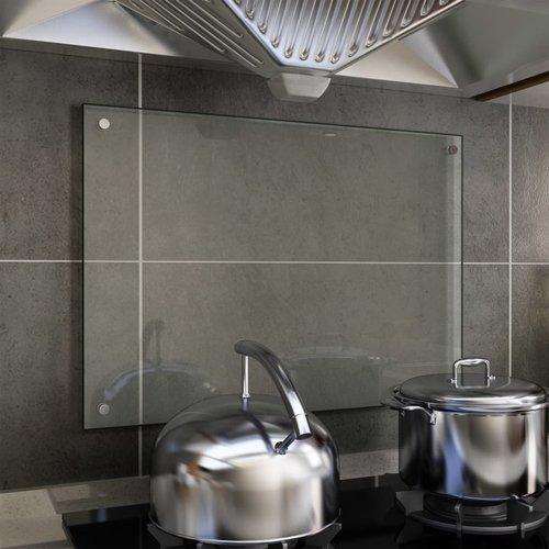 vidaXL Spatscherm keuken 70x50 cm gehard glas transparant