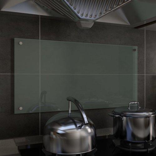vidaXL Spatscherm keuken 80x40 cm gehard glas wit