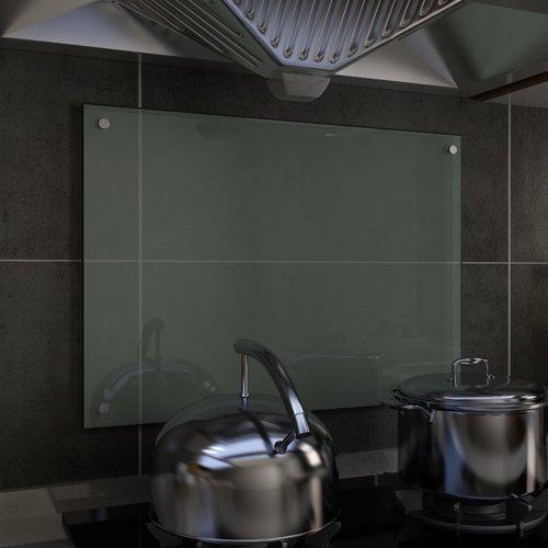 vidaXL Spatscherm keuken 70x50 cm gehard glas wit