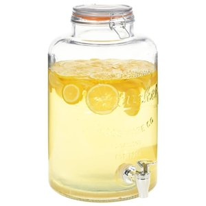 vidaXL Waterdispenser XXL met kraan 8 L glas transparant