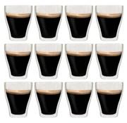 vidaXL Thermoglazen voor espresso dubbelwandig 12 st 370 ml