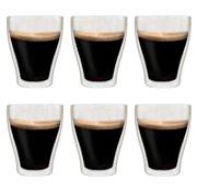vidaXL Thermoglazen voor espresso dubbelwandig 6 st 370 ml