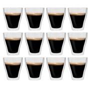 vidaXL Thermoglazen voor espresso dubbelwandig 12 st 280 ml