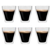 vidaXL Thermoglazen voor espresso dubbelwandig 6 st 280 ml