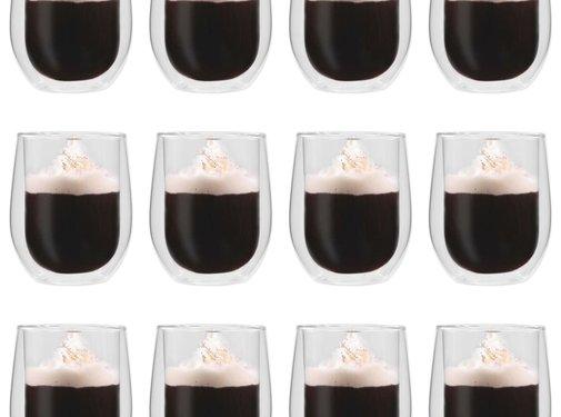 vidaXL Thermoglazen voor espresso dubbelwandig 12 st 320 ml