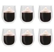 vidaXL Thermoglazen voor espresso dubbelwandig 6 st 320 ml