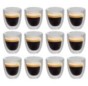 vidaXL Thermoglazen voor espresso dubbelwandig 12 st 80 ml