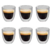 vidaXL Thermoglazen voor espresso dubbelwandig 6 st 80 ml