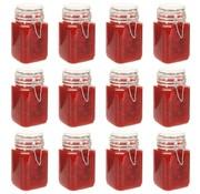 vidaXL Jampotten met sluiting 12 st 260 ml glas