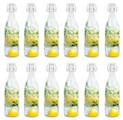 vidaXL Flessen met beugelsluiting 12 st 1 L glas