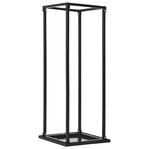 vidaXL Haardhoutrek met basis 37x37x113 cm staal zwart