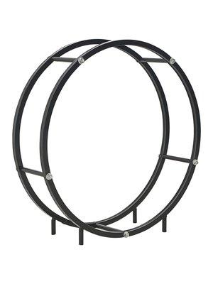 vidaXL Haardhoutrek 70x20x70 cm staal zwart