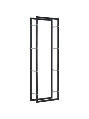 vidaXL Haardhoutrek 50x20x150 cm staal zwart