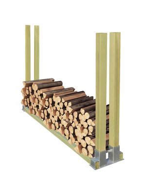vidaXL Haardhoutrek hout 2000x340x1250 mm