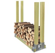 vidaXL Haardhoutrek hout 1000x340x1000 mm