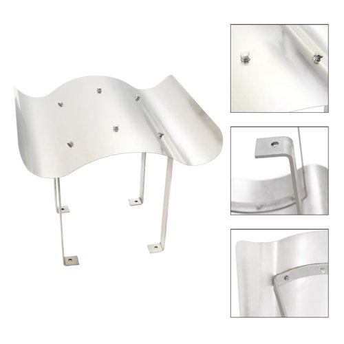 vidaXL Schoorsteenkap roestvrij staal zilverkleurig