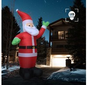 vidaXL Kerstman opblaasbaar LED IP44 600 cm XXL