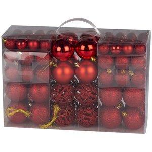 Christmas Gifts Kerstballenset - 100 plastic ballen - rood