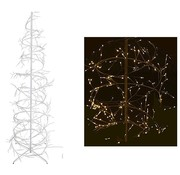 Home&Style Decoration Kerstboom spiraal 150cm - 360 LED - wit