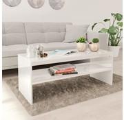 vidaXL Salontafel 100x40x40 cm spaanplaat hoogglans wit