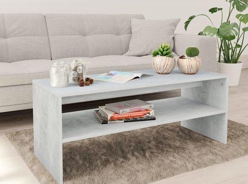 vidaXL Salontafel 100x40x40 cm spaanplaat betongrijs