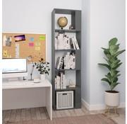 vidaXL Boekenkast/Kamerscherm 45x24x159 cm spaanplaat hoogglans grijs