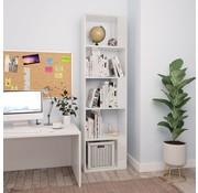 vidaXL Boekenkast/Kamerscherm 45x24x159 cm spaanplaat hoogglans wit