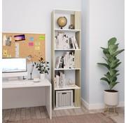vidaXL Boekenkast/Kamerscherm 45x24x159 cm spaanplaat wit en sonoma