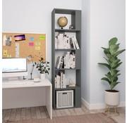 vidaXL Boekenkast/Kamerscherm 45x24x159 cm spaanplaat grijs