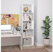 vidaXL Boekenkast/Kamerscherm 45x24x159 cm spaanplaat wit