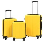 vidaXL 3-delige Harde kofferset ABS geel
