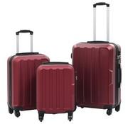 vidaXL 3-delige Harde kofferset ABS wijnrood