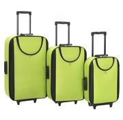 vidaXL Zachte trolleys 3 st oxford stof groen