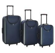 vidaXL Zachte trolleys 3 st oxford stof marineblauw