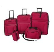vidaXL Reisbagage set rood 5-delig
