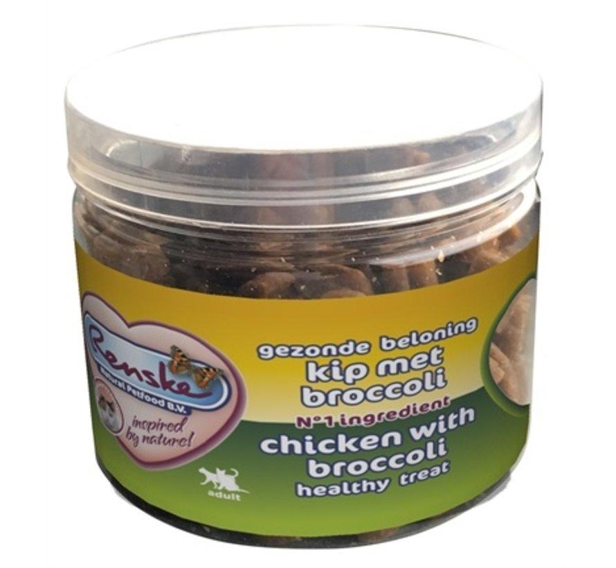 Renske kat gezonde beloning mini hartjes kip / broccoli