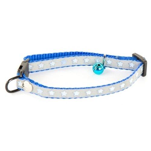 Martin sellier Halsband kat star blauw