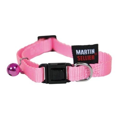 Martin sellier Kattenhalsband nylon uni roze