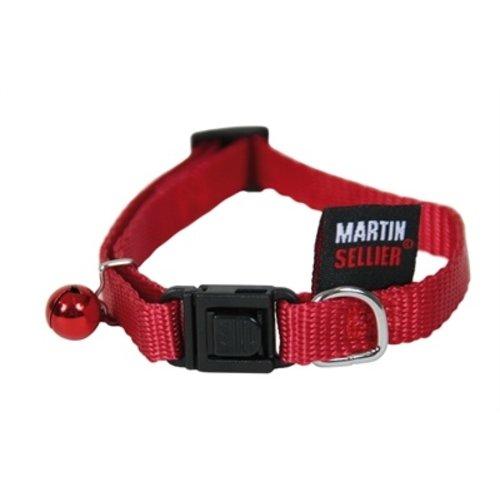 Martin sellier Kattenhalsband nylon uni rood