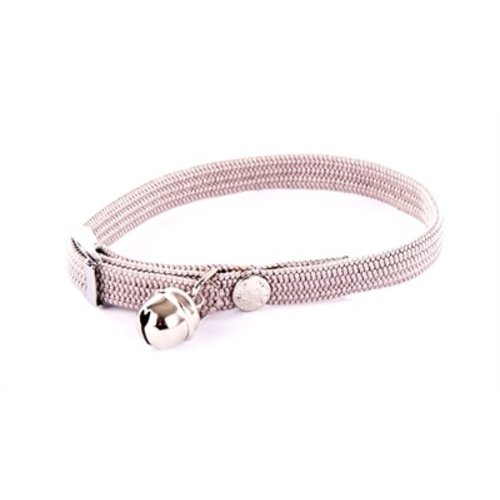 Martin sellier Halsband kat elastisch nylon grijs