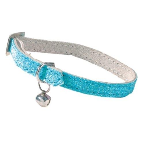 Bobby Bobby kattenhalsband glitter licht blauw