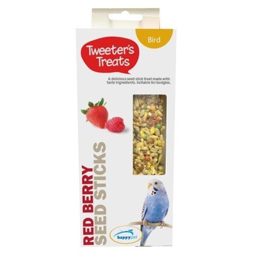 Tweeter's treats Tweeter's treats zaadsticks parkiet rode bessen