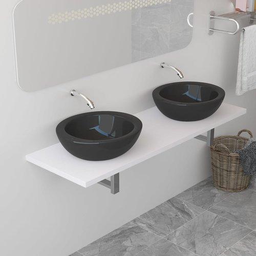 vidaXL Badkamer wandschap voor wastafel 160x40x16,3 cm wit