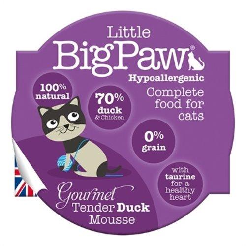 Little big paw 8x little big paw gourmet malse eend mousse
