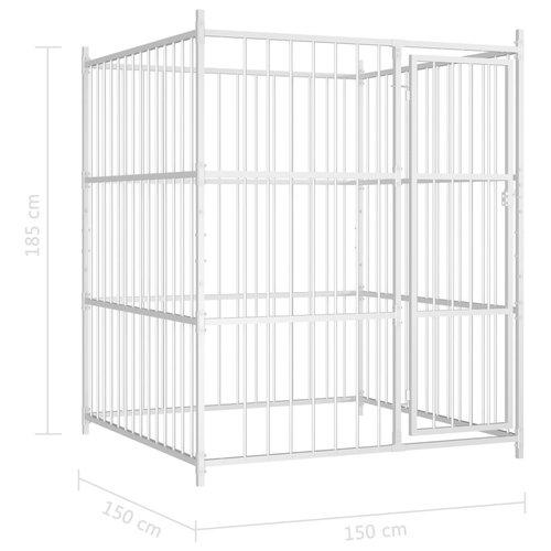 vidaXL Hondenkennel voor buiten 150x150x185 cm