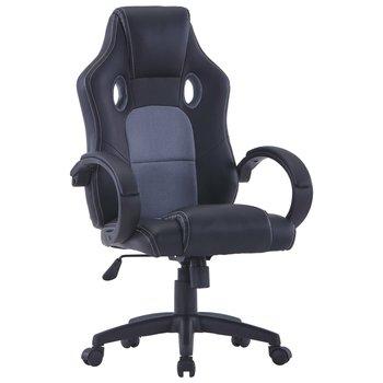 Gamingstoel kunstleer grijs
