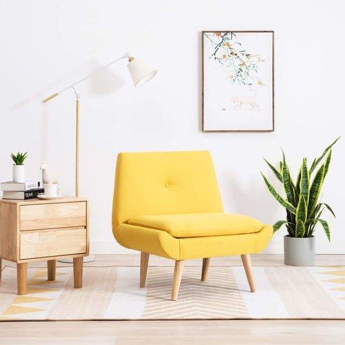 Fauteuil 73x66x77 cm stoffen bekleding geel